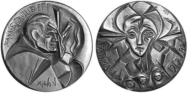 John Paul II Anno V Silver Medal Fatima Photo