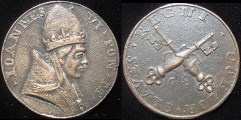 John VI (701-5) Bronze Restitution Medal Photo