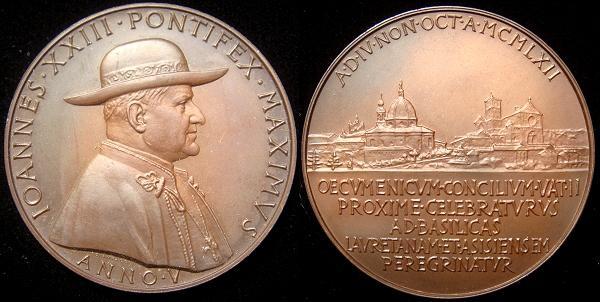 John XXIII Anno V Bronze Medal Photo