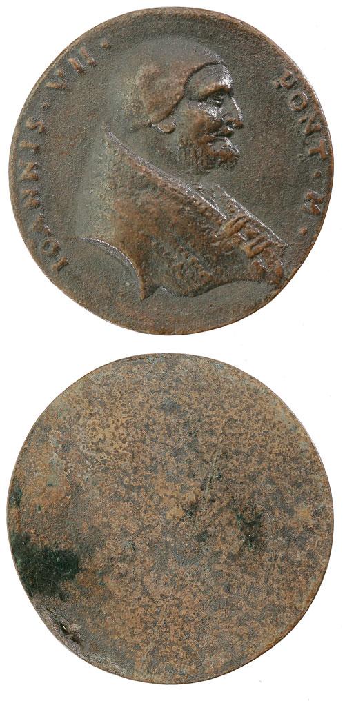John VII (705-7) Uniface Cast Bronze Medal Photo