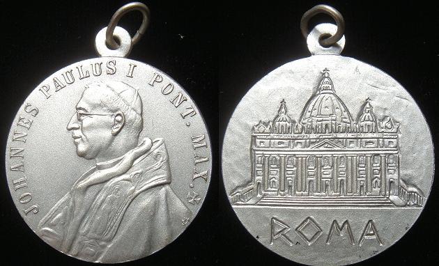 John Paul I (1978) St. Peter's Basilica Medal Photo