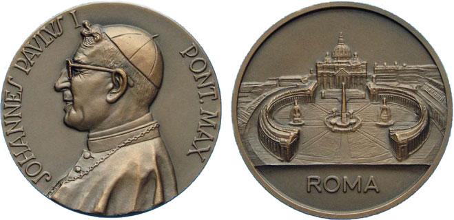 John Paul I Bronze Medal 37mm Photo