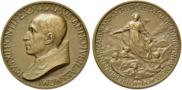 Pius XII Dogma Assumption of Mary Medal Photo