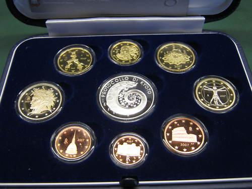 2007 Italy Proof Set with Case, KYOTO Photo