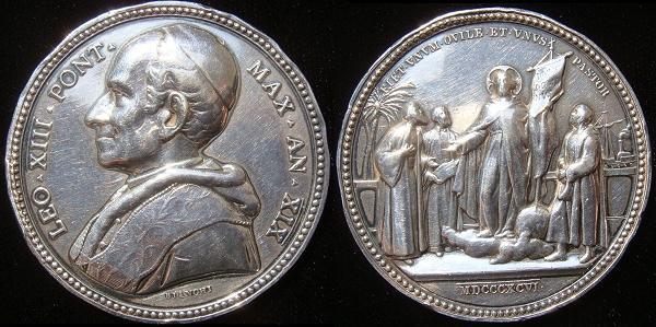 "Leo XIII 1896 Silver Medal ""Satis Cognitum"" Photo"