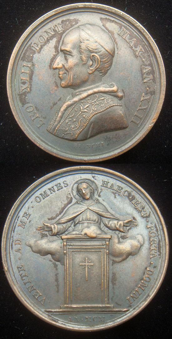Leo XIII 1900 Holy Year Pilgrims Medal 30mm Photo