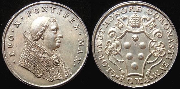 Leo X (1513-21) Silver Paladino Medal Photo