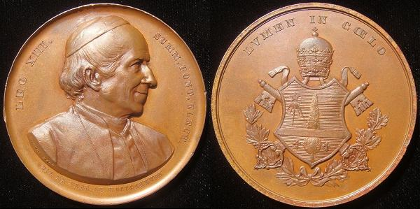 Leo XIII Election Medal Large Bronze 57mm Photo