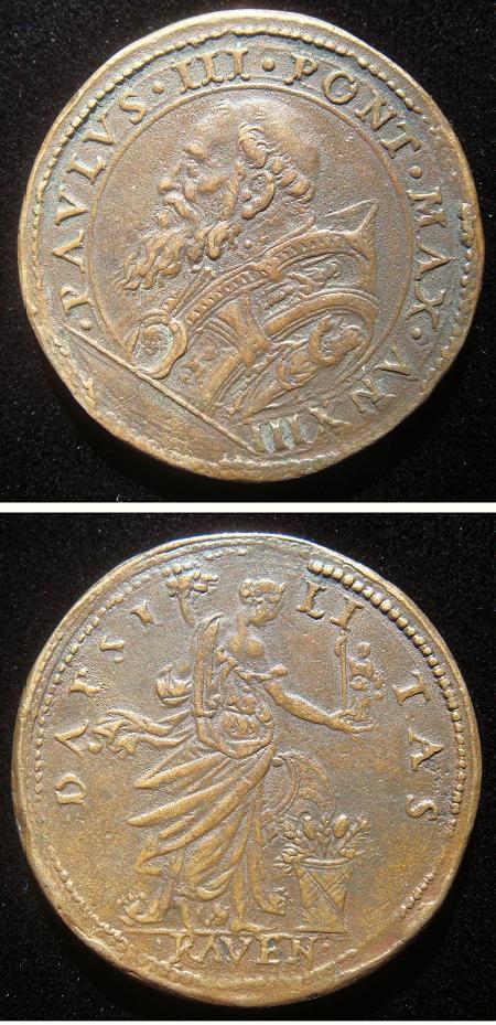 Paul III A.XIII 1547 Leone Leoni Medal Photo