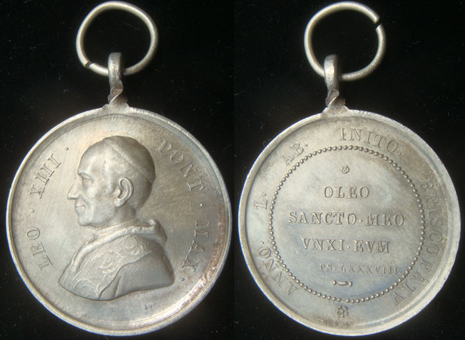 Leo XIII 1888 Anniversary of Ordination Medal Photo