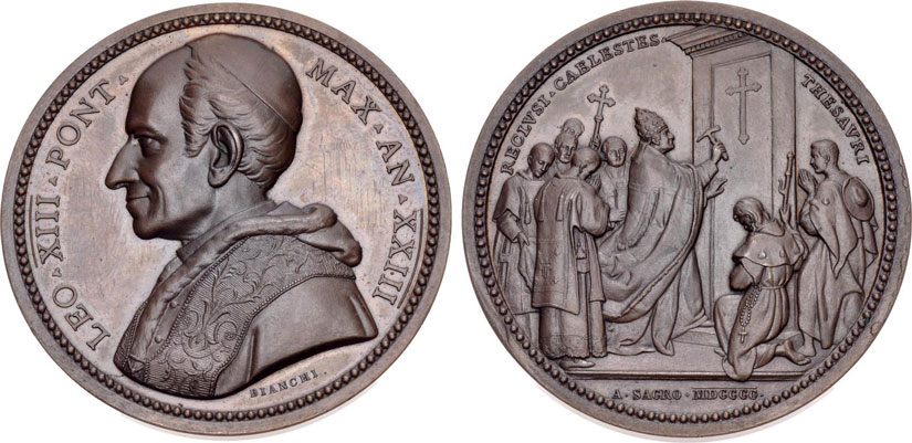 Leo XIII 1900 Opening Holy Door Ae Medal Photo