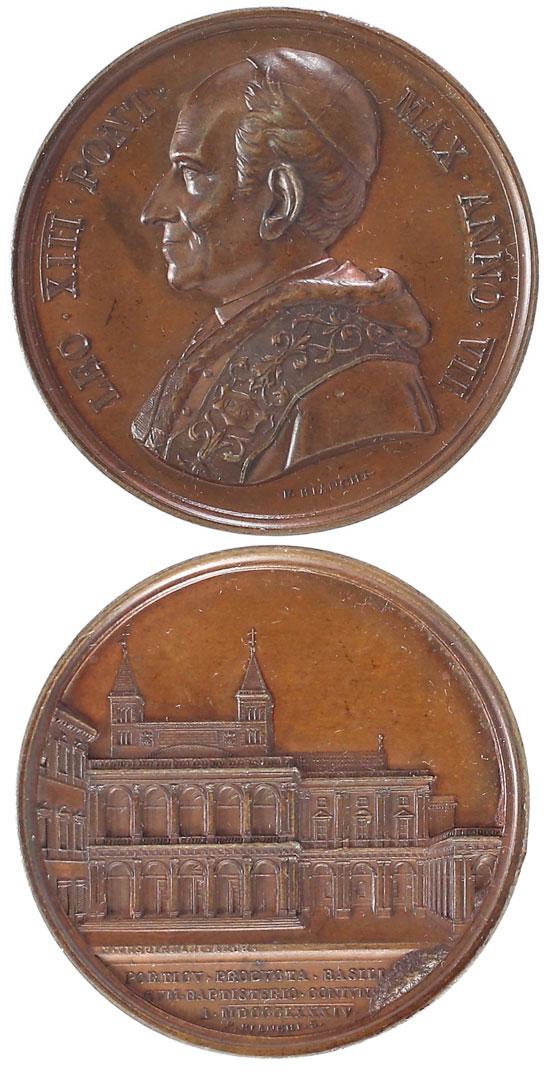 Leo XIII 1884 Bronze Medal Loggia of Benediction Photo