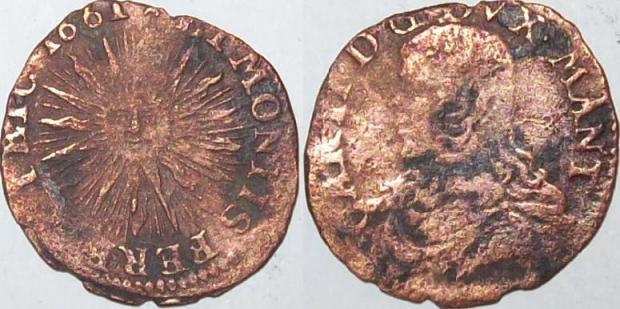 Mantua, Italy 1661 Sessino Coin Photo