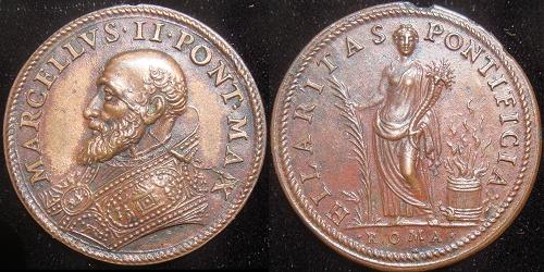 Marcellus II (1555) Bronze Medal Photo