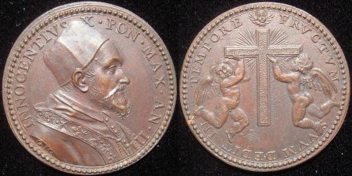 Innocent X (1644-55) Anno III Bronze Medal Photo