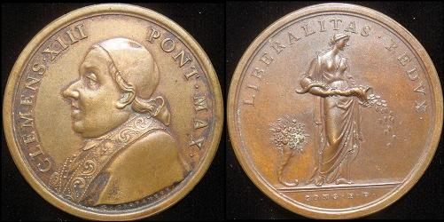 Clement XIII (1758-69) Bronze Medal Photo