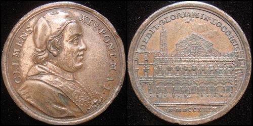 Clement XIV (1769-74) Anno I Bronze Medal Photo