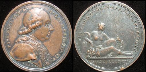 Pius VI (1775-99) Restoration of Via Appia Photo
