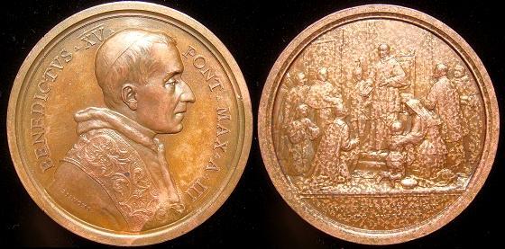 Benedict XV (1914-22) Anno III Bronze Medal Photo