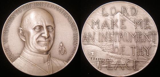 1965 Paul VI Silver Peace Medal Photo