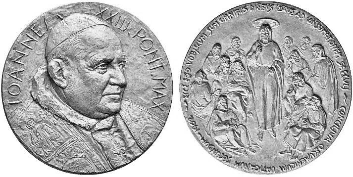1962 John XXIII Vatican II Medal Silvered Photo