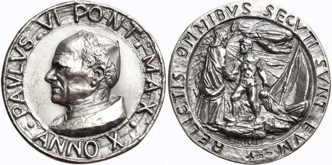 Paul VI (1963-78) Anno X Silver Medal Photo