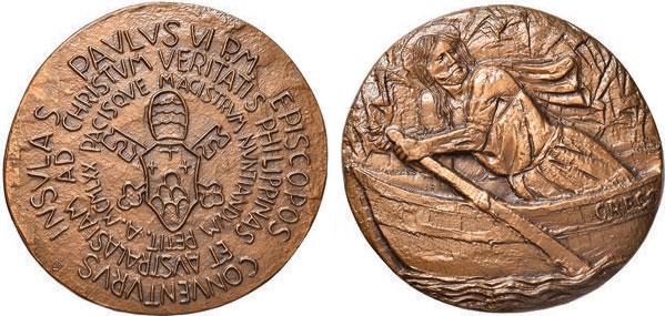 Paul VI 1970 Australia, Philippines Visit Medal Photo