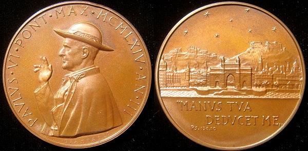 Paul VI (1963-78) Anno III Bronze Medal Photo
