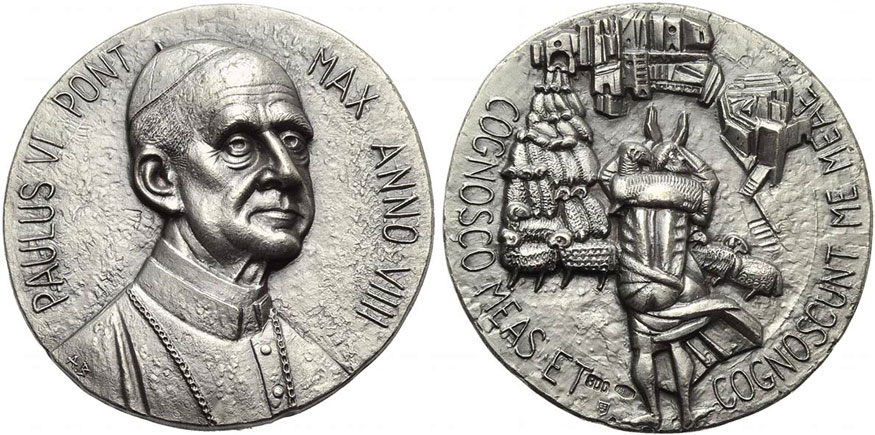 Paul VI (1963-78) Anno IX Silver Medal Photo