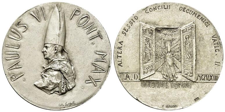 Paul VI 1963 2nd Session Ecumenical Council Silver Photo