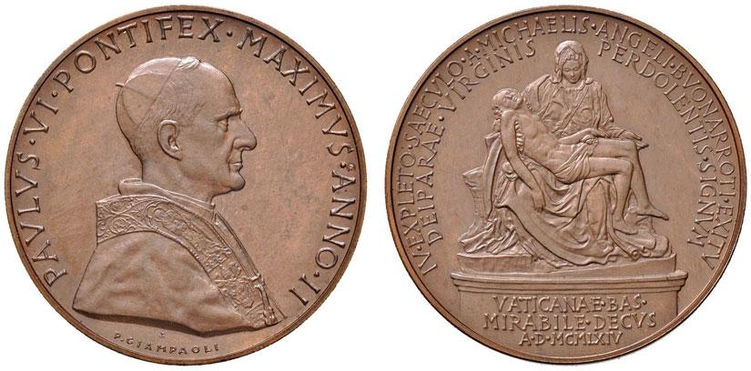 Paul VI (1963-78) Anno II Bronze Medal Photo