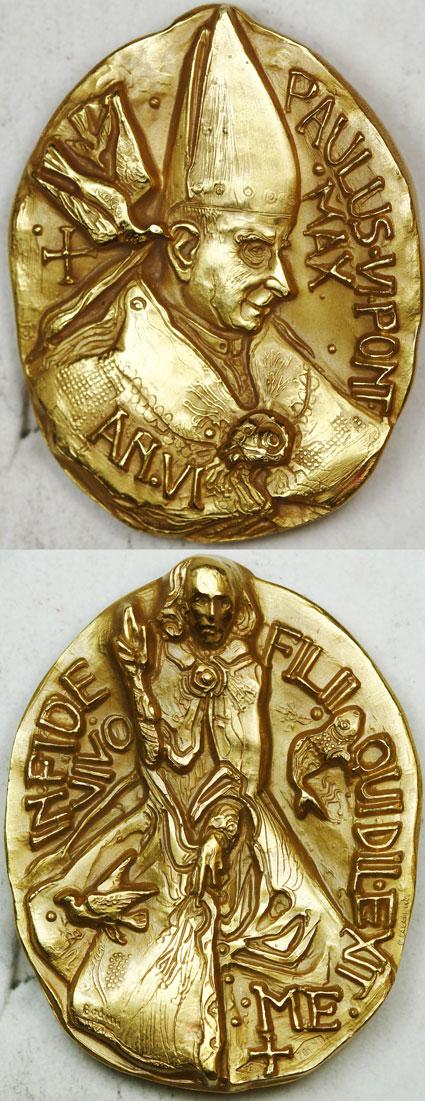 Paul VI (1963-78) Anno VI Gold Medal Photo