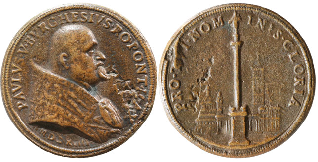 Paul V (1605-21) Basilica St. Mary Major Medal Photo