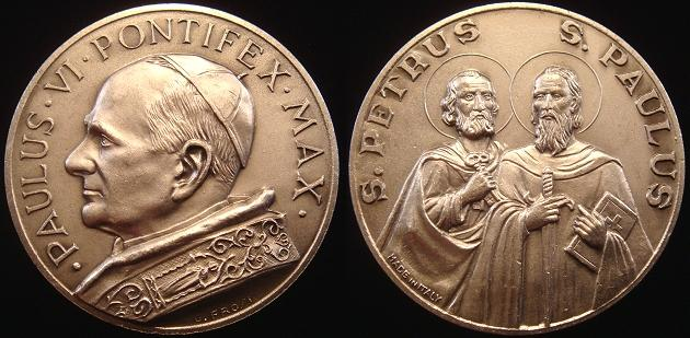 Paul VI Saints Peter & Paul Medal 51mm Photo