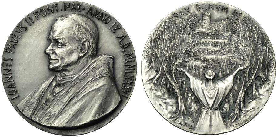 John Paul II Anno IX Silver Medal Photo