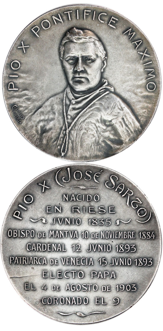 Pius X 1903 Election Medal 58mm Photo