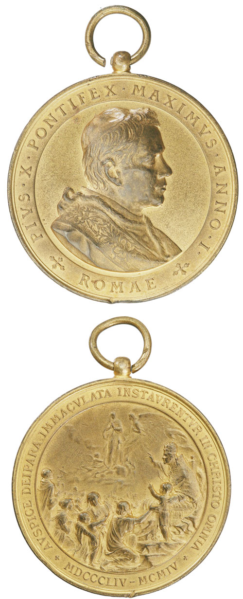 Pius X 1904 Dogma Immaculate Conception 47mm Photo