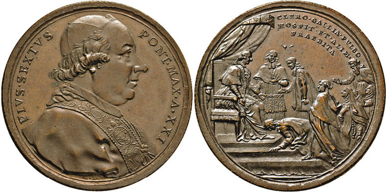 Pius VI 1795 French Clergy in Exile Medal Photo