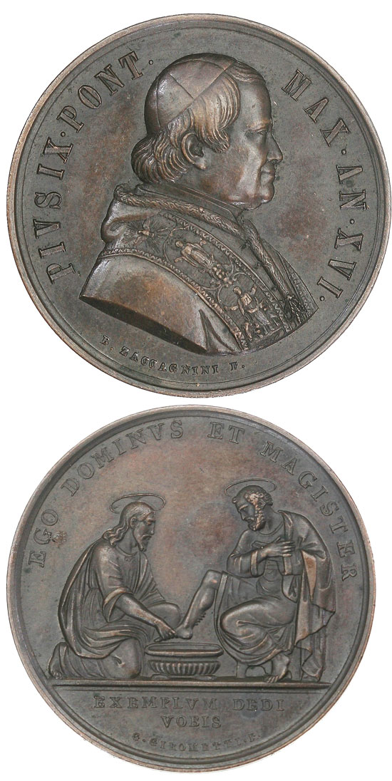 Pius IX Anno XVI Washing of the Feet Photo