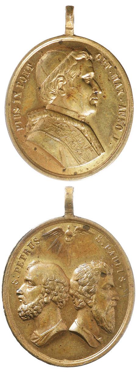 Pius IX 1846 Devotional Medal Photo