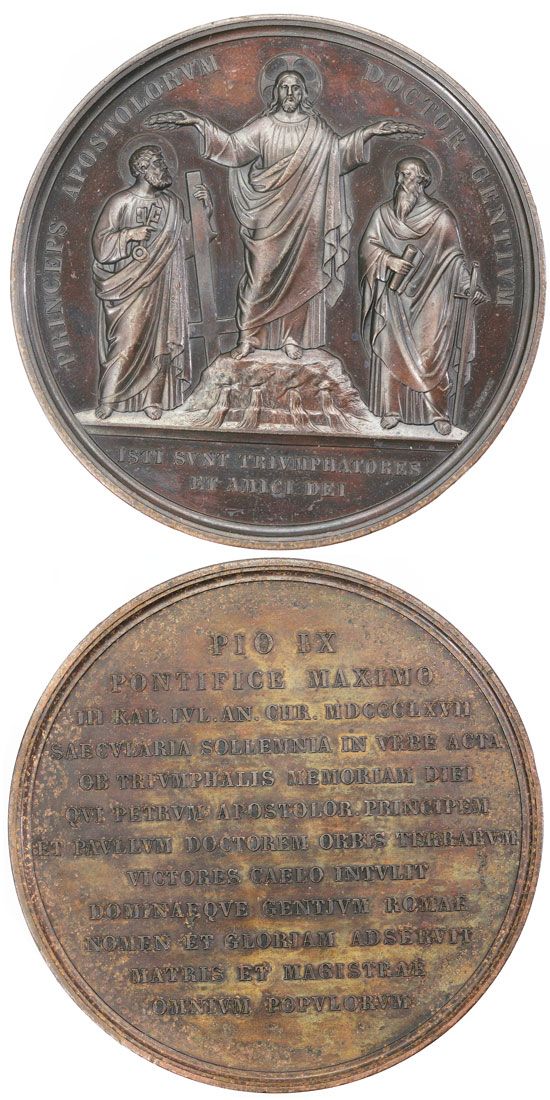 Pius IX 1867 Martyrdom Ss Peter & Paul 69mm Photo