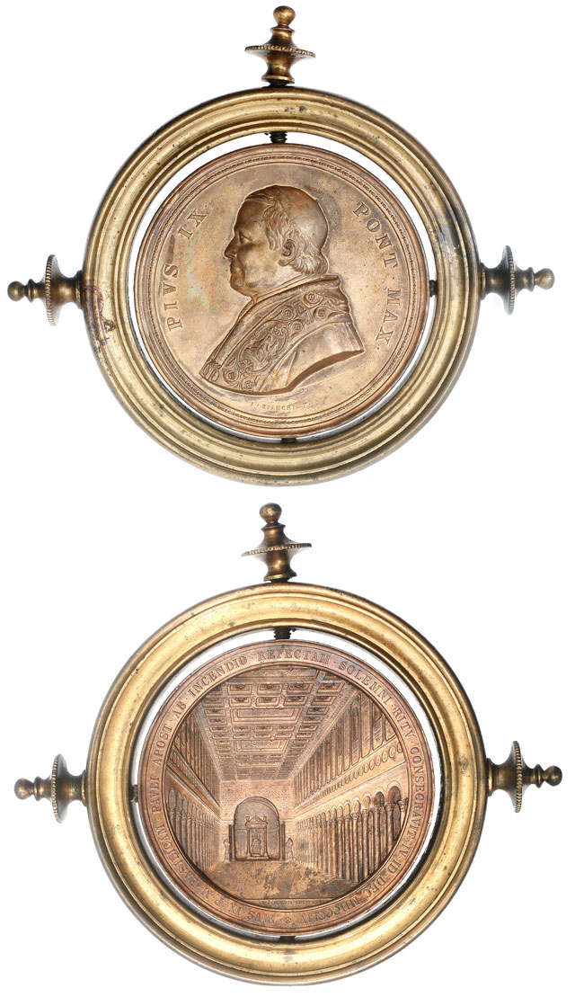 Pius IX 1854 Basilica St. Paul With Holder Photo