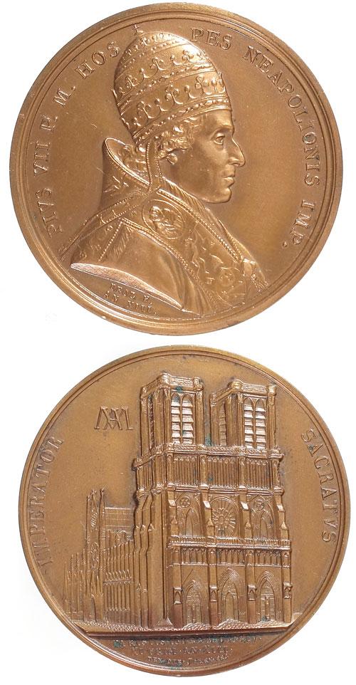 Pius VII 1804 Napoleon Coronation Medal Photo
