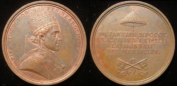 Pius VII 1804 Medal Mint Visit Photo