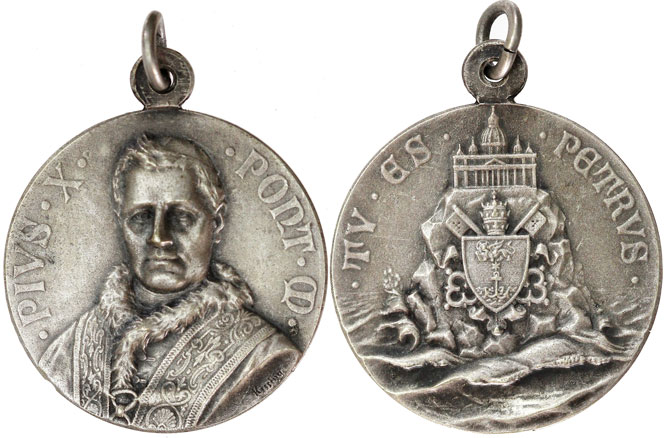 Pius X Medal Tu Es Petrus Photo
