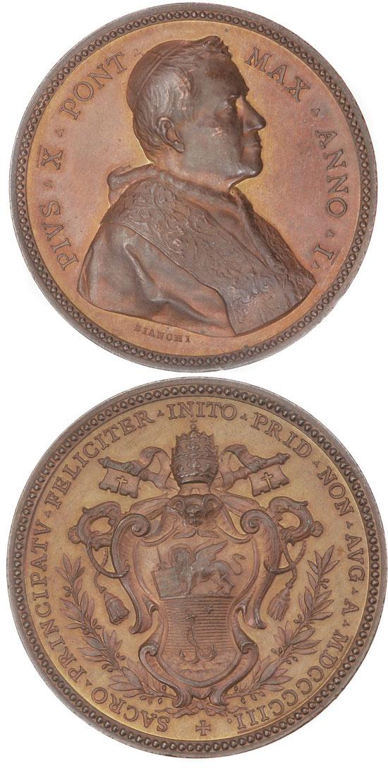 Pius X (1903-14) A.I Election Medal Photo