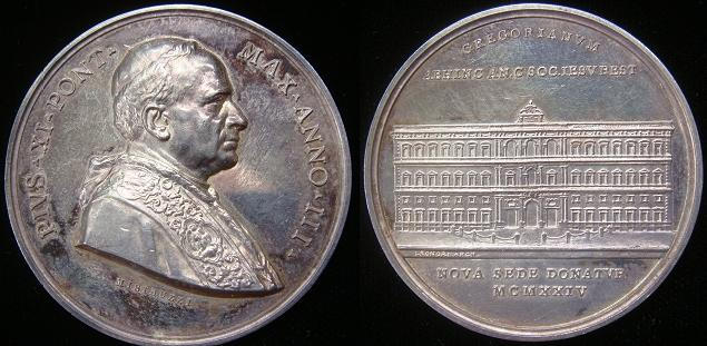 Pius XI (1922-39) A.III Ag Gregorian University Photo
