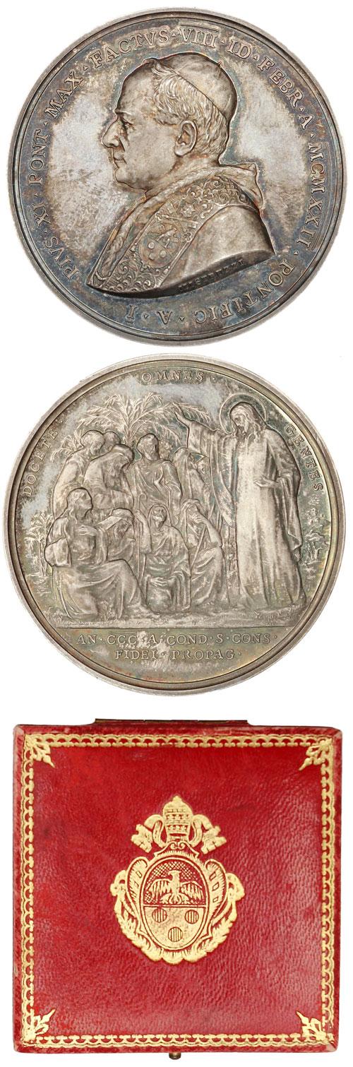 Pius XI 1922 Anno I Election Silver Medal Photo