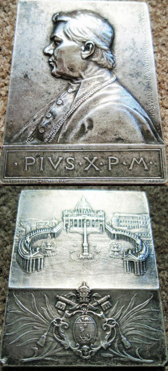 1904 Pius X Plaquette 50x67mm Photo