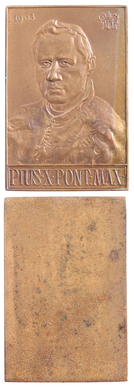 Pius X 1903 Bronze Plaquette Photo